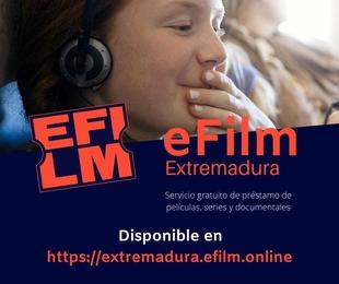 La Red de Bibliotecas de Extremadura ofrece desde hoy el nuevo servicio gratuito 'eFilm', de préstamo online de películas y contenidos audiovisuales