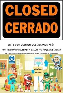 Guarderías privadas de Extremadura no abrirán el próximo 25 de mayo