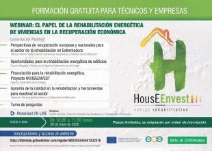 Un seminario online analizará el papel de la rehabilitación energética en la recuperación económica y reactivación del sector