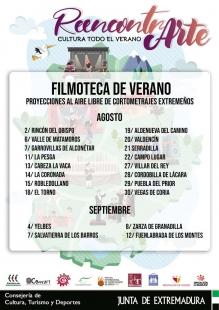 La Filmoteca de Extremadura pone en marcha una programación de verano que proyectará cortometrajes con sello extremeño en veinte localidades