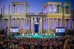 El acto institucional del Día de Extremadura se celebrará en el patio de Los Naranjos de la Asamblea