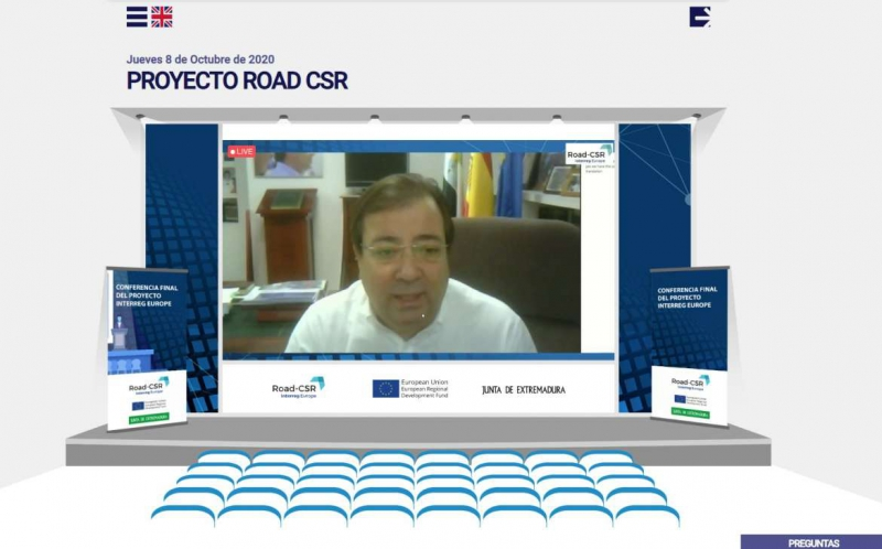 Fernández Vara sitúa a las PYMES en el centro de la vida social durante la inauguración de la Conferencia Final del Proyecto ROAD