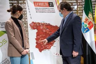 Fernandez Vara asegura que Extremadura será ''un referente'' de la Vuelta Ciclista a España en 2021