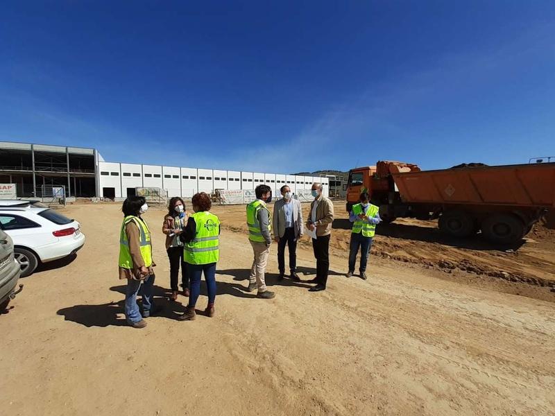 Avanza a buen ritmo la obra de la nueva Estación de Bombeo de Aguas Residuales para el polígono agroganadero de Zafra