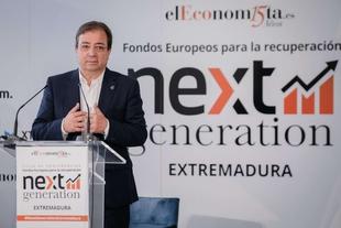 Fernández Vara afirma que los fondos Next Generation deben servir para construir proyectos de país y cohesionar el territorio