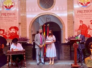 La consejera de Cultura recoge el XII premio Primera Circunnavegación Magallanes-Elcano al pueblo extremeño