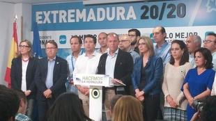 Monago propondr� al PP que deje gobernar a Vara con una abstenci�n en la investidura del socialista