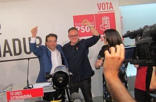 En Extremadura, el PSOE gana las elecciones con 30 diputados, el PP obtiene 28 y entran Podemos y Ciudadanos