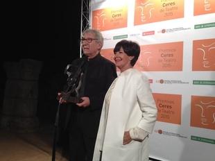 Jos� Sacrist�n asegura al recoger el premio Em�rita Augusta a toda su carrera que �para momentos as� se vive�